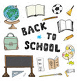 back to school hand drawn sketch doodles set vector image vector image