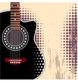 background with acoustic guitar vector image vector image