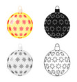 ball single icon in cartoon stylea toy vector image