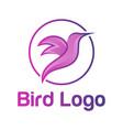 bird logo design vector image vector image
