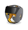black boxing helmet headgear head guard icon vector image