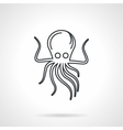 Black line icon for octopus vector image vector image