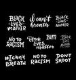 black lives matter lettering quote set vector image vector image