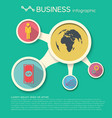 business infographic design template vector image vector image