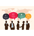 Business meeting with speech bubble infographic vector image vector image
