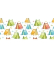 Camp tents horizontal seamless pattern background vector image vector image