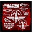 Car racing emblems and championship race vector image vector image