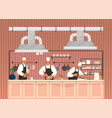 chief-cooker characters at work cartoon chief vector image vector image