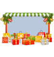 Christmas Shopping Board vector image vector image