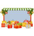 Christmas Shopping Board vector image