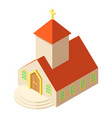 eastern church icon isometric style vector image vector image