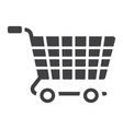 ecommerce solutions glylph icon seo development vector image vector image