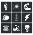 Electrical Company Icons set vector image vector image