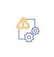 error report line icon vector image vector image