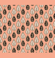 floral seamless pattern with leaves ornamental vector image vector image