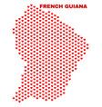 french guiana map - mosaic of lovely hearts vector image vector image