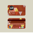 Front And Back Member Card Template vector image vector image