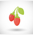goji berries flat icon vector image vector image