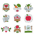 hand drawn style of bio organic eco healthy food vector image vector image