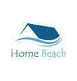 home beach logo vector image