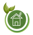 home ecology with leafs vector image vector image