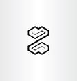 letter z black logo symbol design sign vector image vector image
