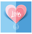 love card origami for wedding for valentine vector image vector image