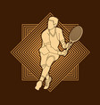 man tennis player running sport man action vector image vector image