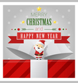 Merry Christmas and Happy New Year greeting card 1 vector image vector image