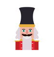 nutcracker figurine icon image vector image