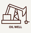 oil well logo template vector image vector image