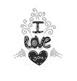 phrase for valentines day romantic quote for vector image