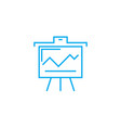 presenting interim results linear icon concept vector image