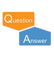 q and a icon on white background question and vector image vector image