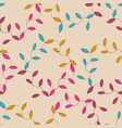 seamless floral background pattern in vintage vector image vector image