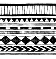 seamless hand-draw tribal ink pattern vector image
