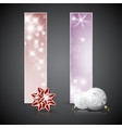 set of christmas cards or banners vector image vector image