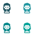 Set of paper stickers on white background men vector image vector image
