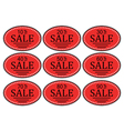 set sale sticker for promotional goods vector image vector image