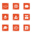 sign of freedom icons set grunge style vector image