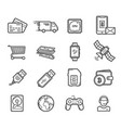 smart technology devices icons vector image