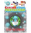 stop spread corona virus vector image vector image