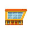store facade exterior of market modern building vector image vector image