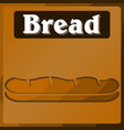 table in the supermarket with the image of bread vector image vector image