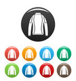 thermo clothes icons set color vector image vector image