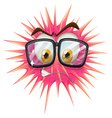 Thorny ball wearing eyeglasses vector image vector image