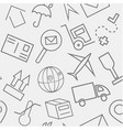 transportation hand drawn sketchy outline pattern vector image