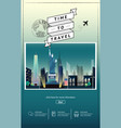travel to newyork presentation template vector image vector image