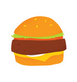 vegan beans burger isolated vector image vector image