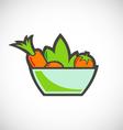 vegetable salad vegetarian logo vector image vector image